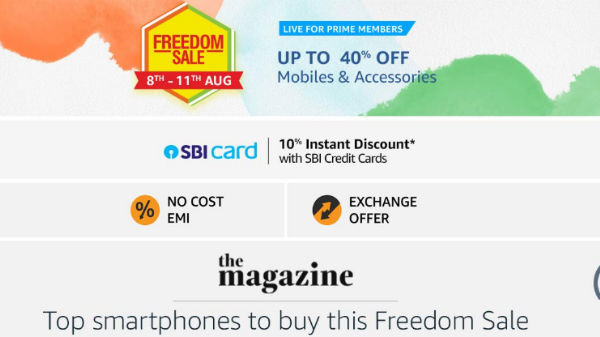 Amazon Freedom Sale 2019 Offers On Samsung Smartphones