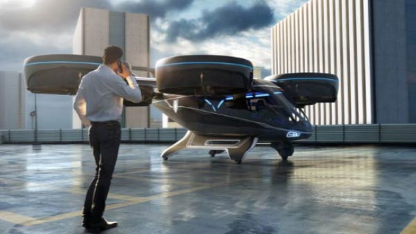 Uber Flying Taxi Design Revealed - Commercial Launch Expected By 2023