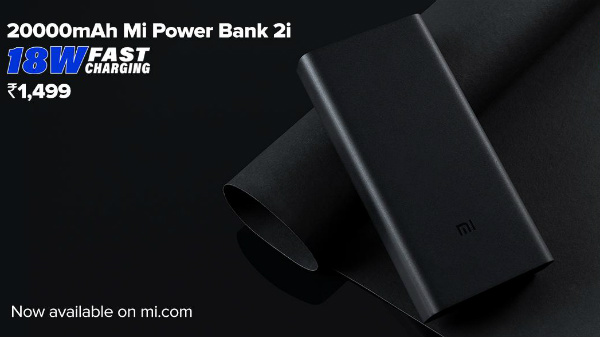 Xiaomi 20000mAh Mi Power Bank 2i Launched In India