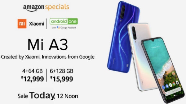 Xiaomi Mi A3 Goes On Sale – Threat To Other 6GB RAM Smartphones