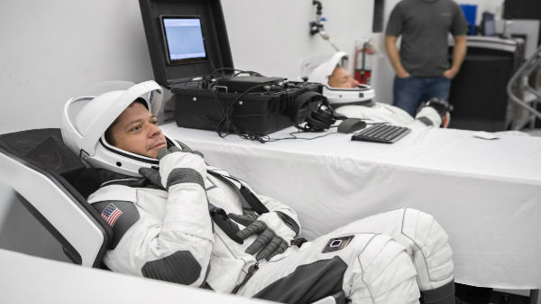 SpaceX Showcases New Space Suits Ahead Of Crew Dragon Take Off