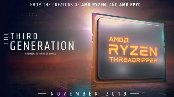 AMD Ryzen Threadripper 3rd Gen CPUs To Launch In November