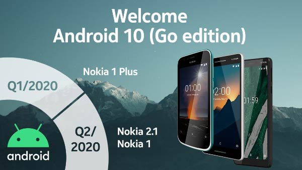 Android 10 (Go edition) Update Available For Nokia Phones