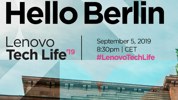 Lenovo Tech Life IFA 2019: Watch The Live Stream Here