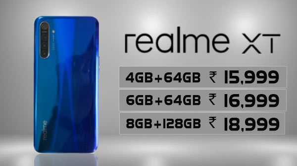 Realme XT With 64MP Camera Launched In India — Price, And Specs