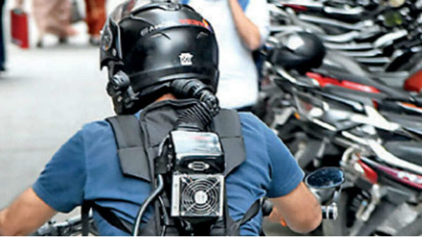 Bengaluru-Based Techie Invents Air-Conditioned Helmet