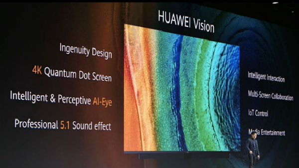 Huawei Vision 4K TV With Pop-Up Camera And HarmonyOS Launched