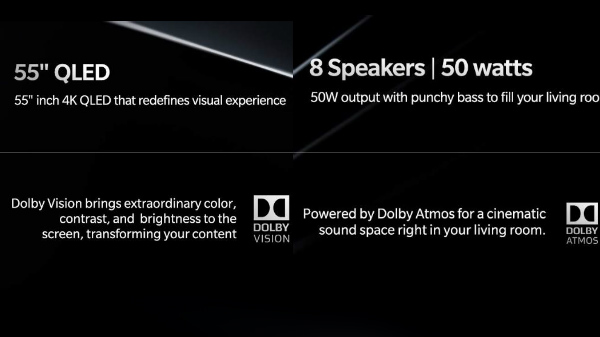 OnePlus TV To Support Dolby Vision And Dolby Atmos