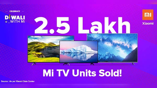 Xiaomi Records Over 250,000 Mi TVs Sale During Festive Season Sale