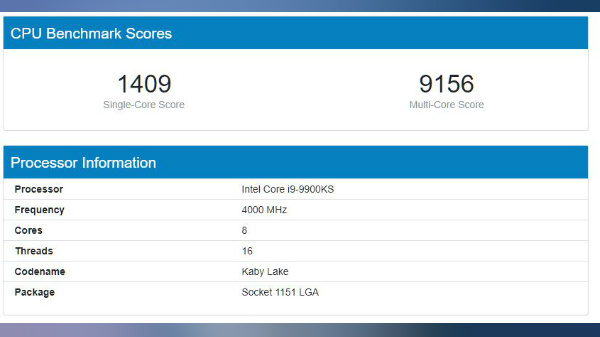 Intel To Launch Its Super-Efficient 5.0GHz Core i9-9900KS CPU