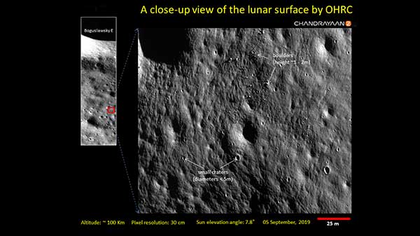 ISRO Releases Pictures Of Lunar Surface