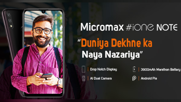 Micromax iOne Note Teased: Notched Display, 3,900 mAh Battery Revealed