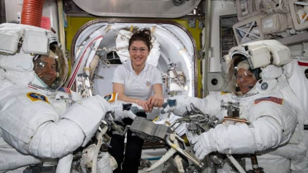 NASA First All-Women Spacewalk Isn't Scrapped Yet