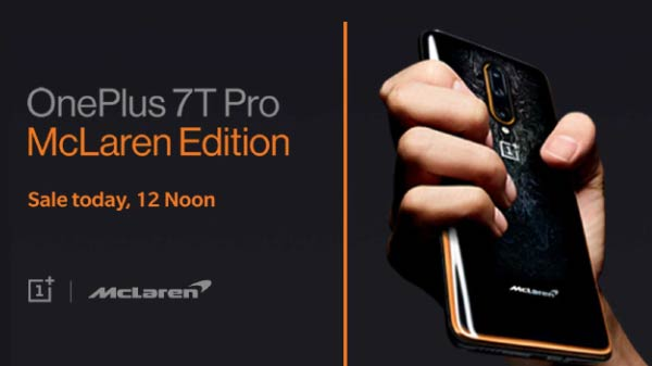OnePlus 7T Pro McLaren Edition Sale Starts Today In India