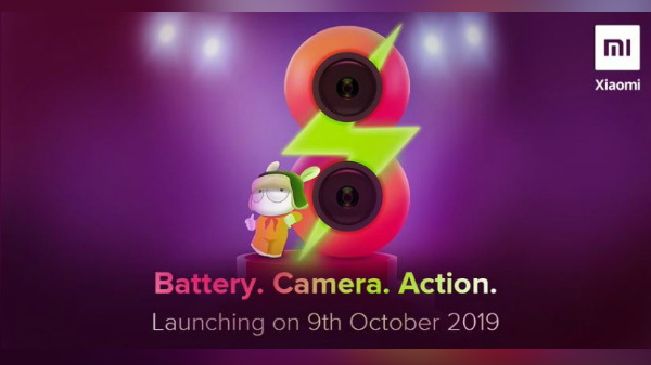 Redmi 8 To Arrive On October 9: 4,500 Battery With Fast Charging