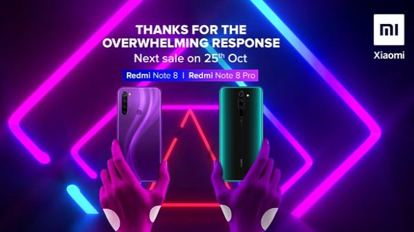Redmi Note 8, Note 8 Pro Sold Out Within Minutes; Next Sale On Oct 25
