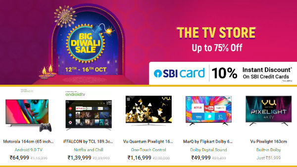 Flipkart Big Diwali Offers: Get Up To 50% Off On Smart TVs