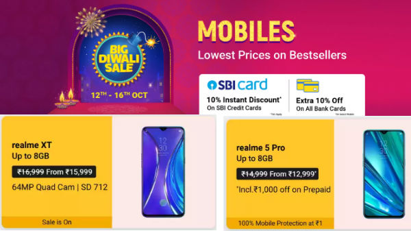 Flipkart Big Diwali Sale Offers: Realme Smartphones On Discount This Festive Season