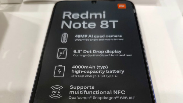 Xiaomi Redmi Note 8T Live Images Hit The Web, Key Specs Revealed