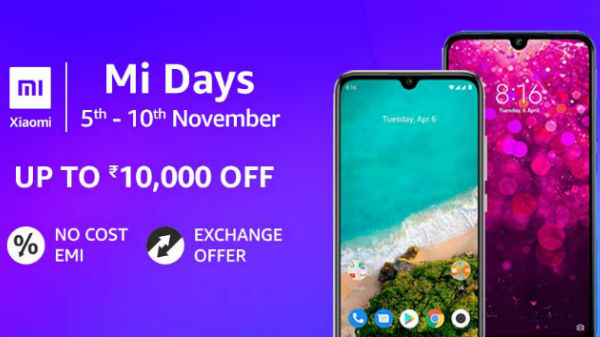 Amazon Mi Days Sale (Nov 5th - 10th): Discounts On Mi Smartphones And Accessories