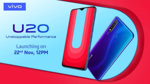 Vivo U20 India Launch Slated For November 22: What To Expect