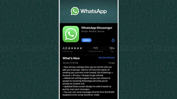 WhatsApp For iPhone Update Brings Call Waiting Support