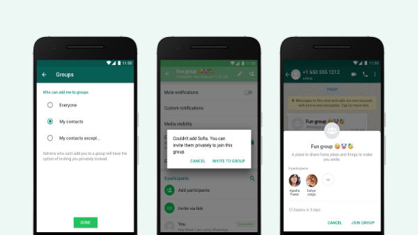 WhatsApp Group Privacy Setting Update Rolled Out