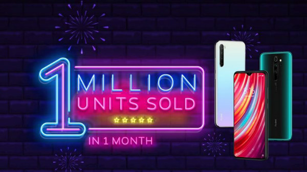 Xiaomi Sells 1 Million Redmi Note 8 Phones In One Month
