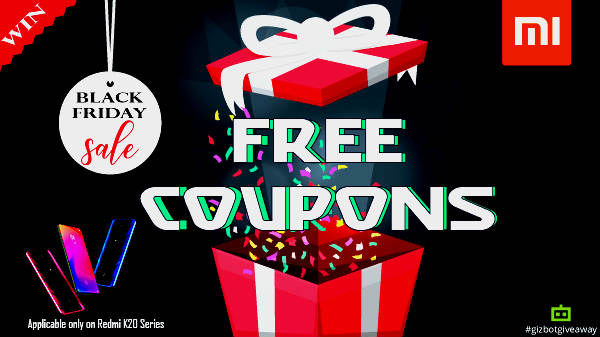 GizBot Giveaway:  Win Black Friday Sale Coupons Worth Rs. 3,000