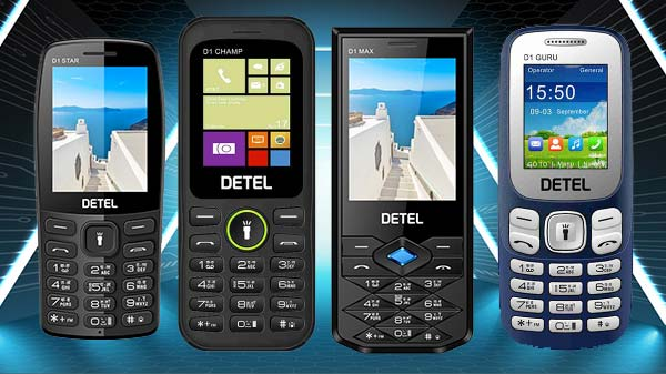 Detel Launches Four Feature Phone Under Rs. 1000