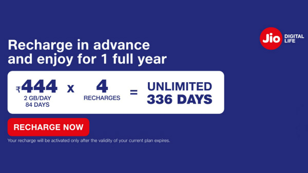 Jio Rs. 1,776 All-In-One Prepaid Recharge Launched