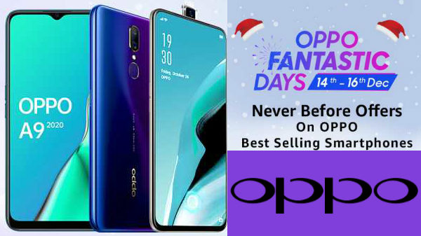 OPPO Fantastic Days Sale Offers: Oppo F11 Pro, Oppo Reno 2, Oppo A11, Oppo A5s, Oppo A3s And More