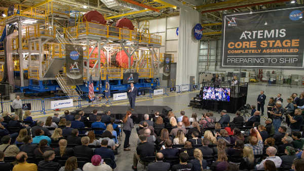 NASA Shows Off Space Launch System For Upcoming Artemis Mission