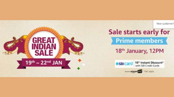 Amazon Great Indian Sale Debuts On January 19: Discounts And Offers