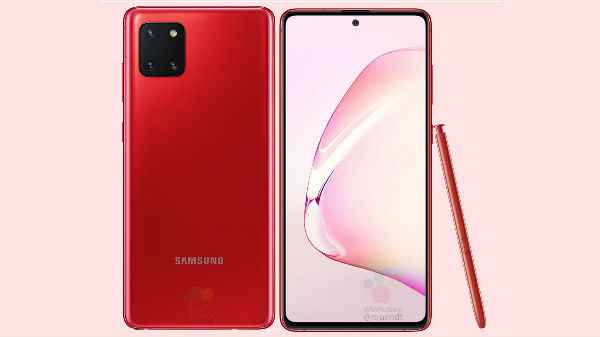 Samsung Galaxy Note 10 Lite Prices Leaked Ahead India Launch