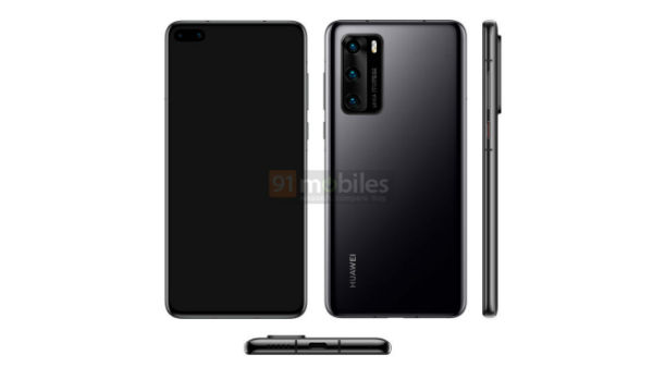 Huawei P40 Pro Leak Render Suggest Dual Punch-Hole Camera Display