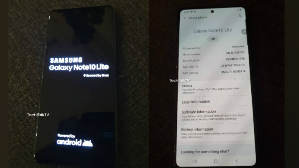 Samsung Galaxy Note 10 Lite Live Images Reveal Triple Camera Setup