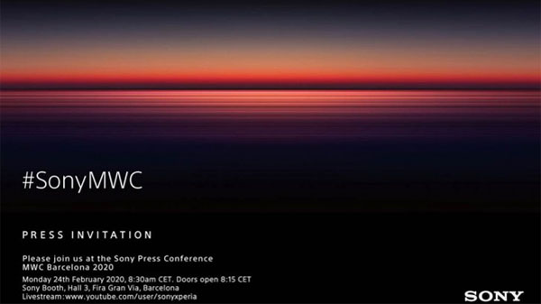Sony Sends Press Invites For MWC 2020 Event: Xperia 5 Plus Expected