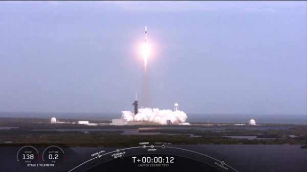 SpaceX Crew Dragon Abort System Test Successful
