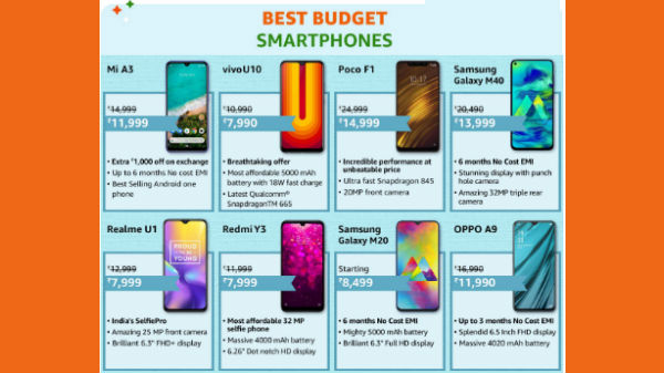 Amazon Great Indian Sale 2020: Massive Discounts on Budget Smartphones
