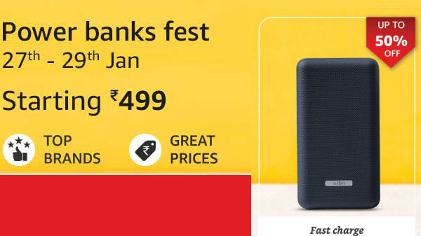 Looking For Fast Charging Power Banks? Get Up To 50% Off On Amazon
