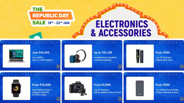 Flipkart Republic Day Sale: Offers On Gaming Laptops, Camera, Headphones, Smartwatches And More
