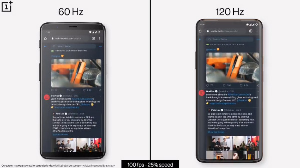 OnePlus 8 Pro's 120Hz Display Compared With 60Hz Display On OnePlus 5T