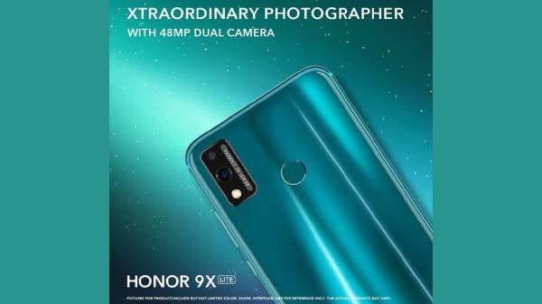 Honor 9X Lite With 48MP Rear Camera Goes Official: Price And Specs