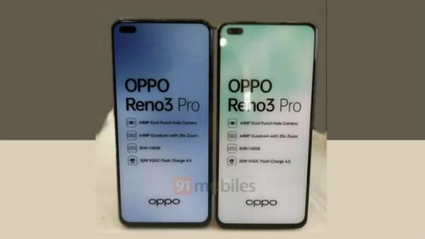 Oppo Reno 3 Pro With Dual-Punch Hole Spotted At Indian Retail Store