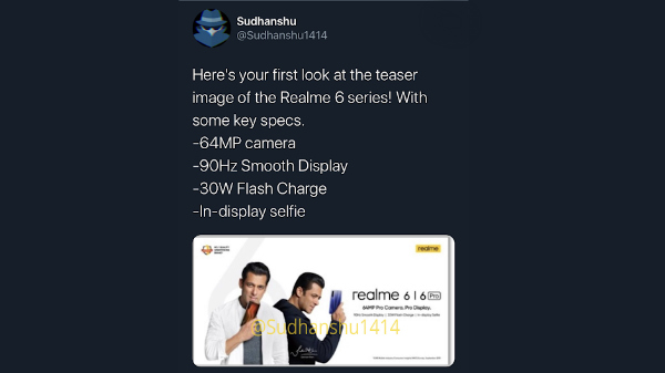 Realme 6 Pro Key Specifications Leaked: 90Hz Display Confirmed