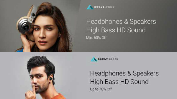 Flipkart Sale 60% Discount Offers On Boult Audio Speakers and Headphones