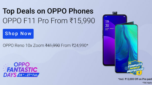 Buying An Oppo Smartphone? Check Out Flipkart Oppo Fantastic Days Sale Offers