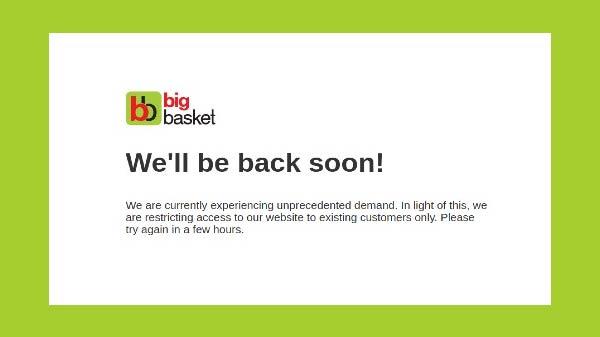 BigBasket Website Crashes With Sudden Surge In Demand