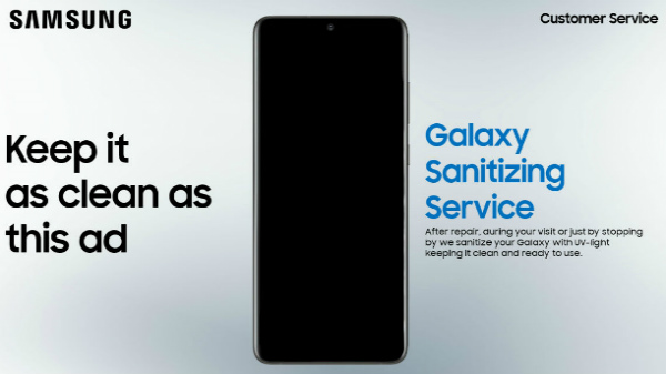 Samsung's Free Smartphone Sanitization Service Coming Soon To India